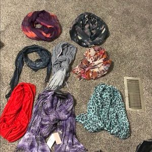8 scarf bundle, mix of infinity and normal